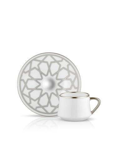 Koleksiyon Sufi Yıldız Platin 6'Lı Türk Kahvesi Fincanı Renkli